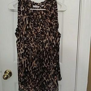 Leopard print sleeveless top🐯